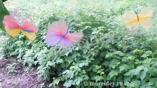 Бабочки из целлофановых пакетов