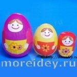 Необычное украшение пасхальных яиц