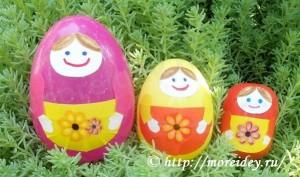 Поделки матрешки из контейнеров от киндер-сюрприза и пластмассовых яиц
