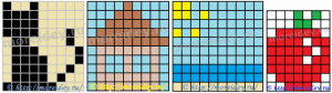 Схемы для плетеных картинок из бумаги