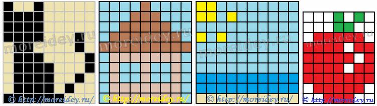 Схемы для плетеных картинок из