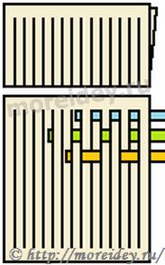 Вплетение бумажных полосок в основу