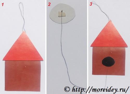 как сделать поделку птичка в скворечнике