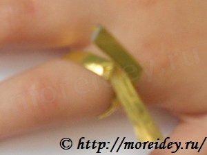 Колечко из фольги для детей своими руками, поделки из фольги