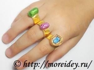 Колечко из фольги для детей своими руками, поделки из фольги, как сделать колечко из фольги, кольцо из фольги