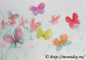 "Монотипия для детей, как сделать монотипию, монотипия бабочки, монотипия картинки ""Бабочки"""