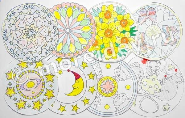 мандалы раскраски для детей