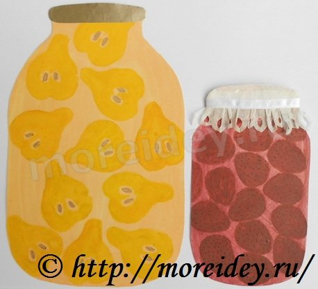 Компоты и варенье (штампы из фруктов)