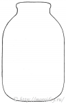 шаблон банки трехлитровой для поделки компот