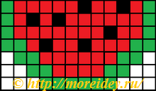 Схема поделки для термомозаики арбуз, термомозаика схемы