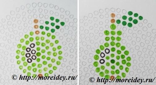 Схемы фруктов из термомозаики: