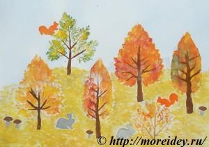 Штампы из листьев, рисунки отпечатками листьев, необычные штампы из листьев