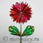Цветы - поделки из фантиков своими руками мастер класс с фото