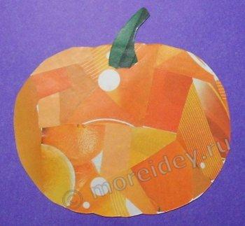 Осенняя поделка своими руками на тему урожай: аппликация тыква