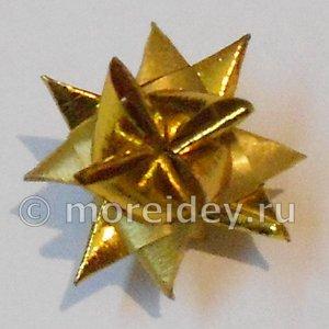 Объемная звезда (звезда Фрёбеля) из полосок бумаги своими руками