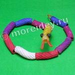 змейка - поделка из макарон