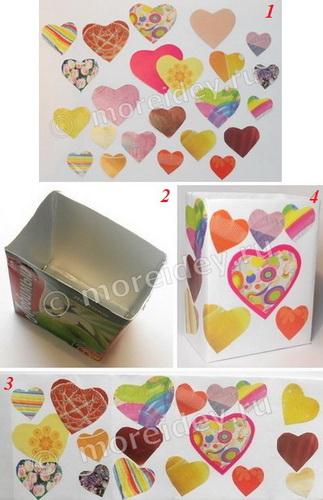 Как сделать подарочный пакетик ко Дню св. Валентина