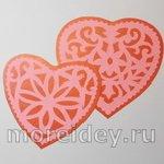 Вытынанки — ажурные сердечки из бумаги (схемы)
