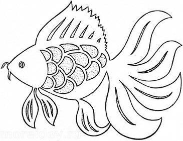 Схема вытынанки золотая рыбка