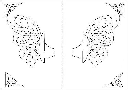 Шаблон объемной открытки с