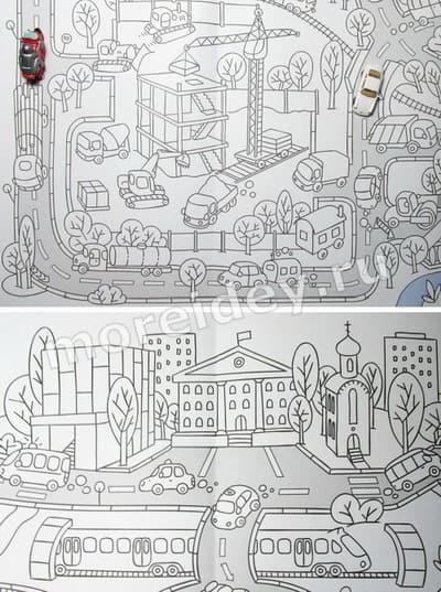 большие раскраски для детей