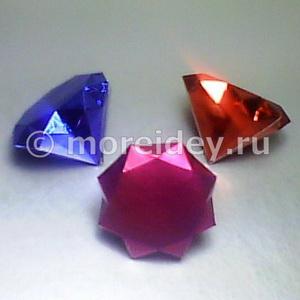 Очень красивые и необычные поделки из бумаги: бриллианты