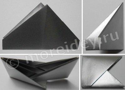 Игрушечный фотоаппарат оригами из бумаги