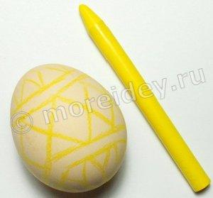 Как сделать рисунок на пасхальных яйцах