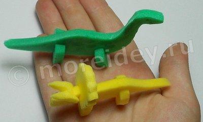 Поделка динозавр своими руками