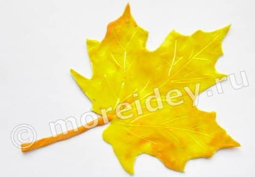 Листья из пластилина