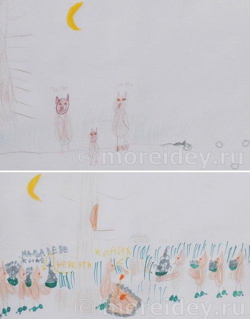 Детский рисунок сова
