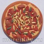 Еда для кукол своими руками: пицца. Мастер класс