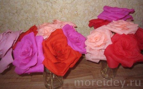 Красивые цветы с бумаги своими руками