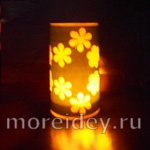 Бумажный фонарик с цветочным узором