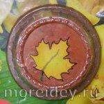 Осенняя поделка (обратная аппликация из пластилина)