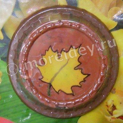 Осенняя поделка из пластилина для детского сада