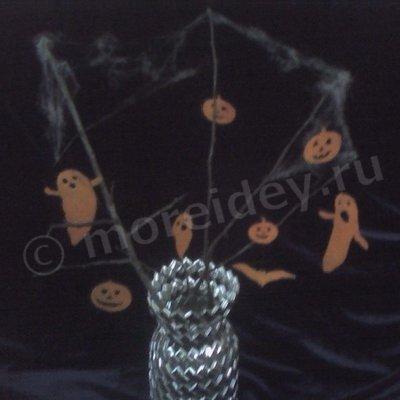 Поделки из мандариновой кожуры для Хэллоуина