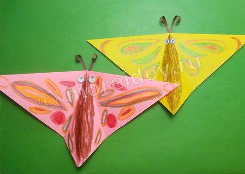 Поделка бабочка, машущая крыльями