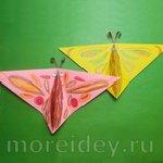 Оригами для детей: бабочка, машущая крыльями