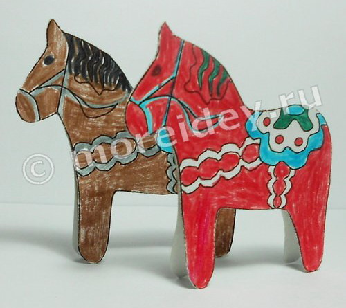 Поделки лошадки на елку своими руками