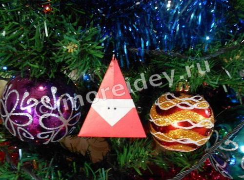 оригами к Новому году с пошаговой инструкцией