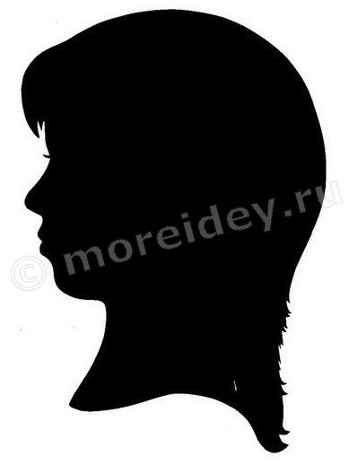 Портрет - силуэт человека по фото, силуэт девушки