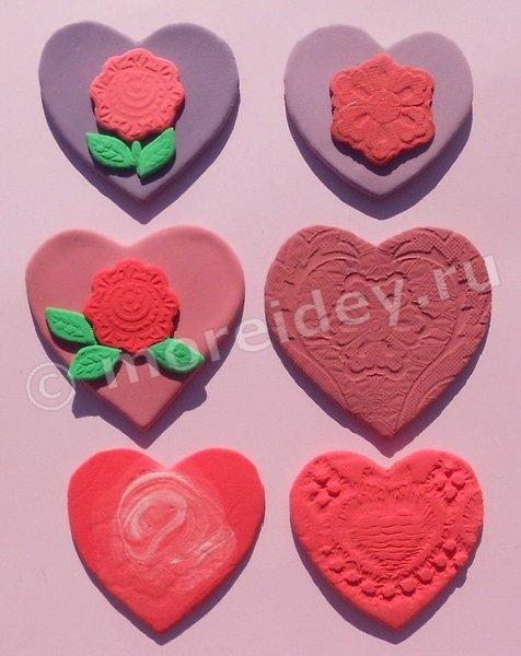 Поделки в форме сердечек