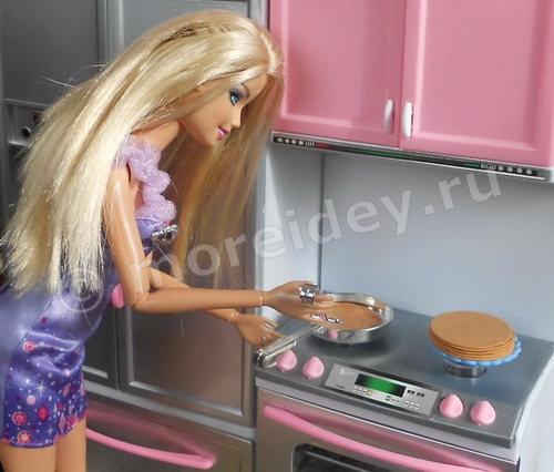 Еда для кукол Барби: блины