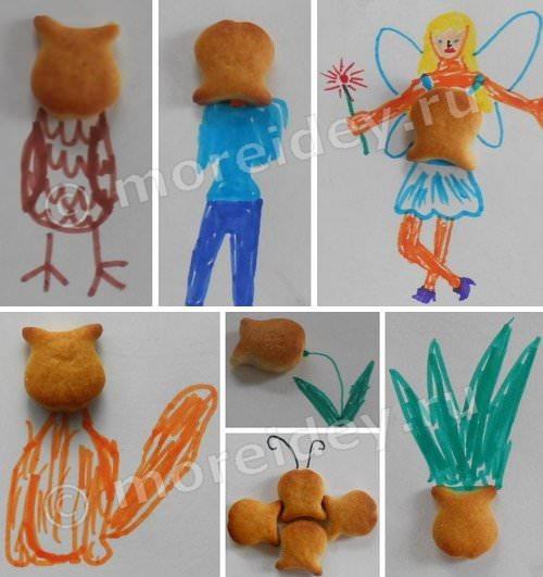 Игра - дорисовка из печенья