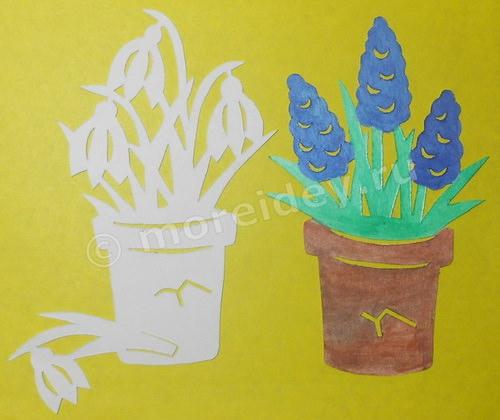 Поделка цветы (вырезание из бумаги)