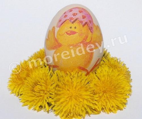 декупаж из скорлупы яиц
