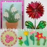 Детские поделки и творческие работы по теме цветы. Мастер-классы