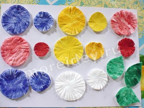 Цветы из ватных дисков мастер класс