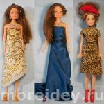 Игра в модельера и показ мод с куклой Барби